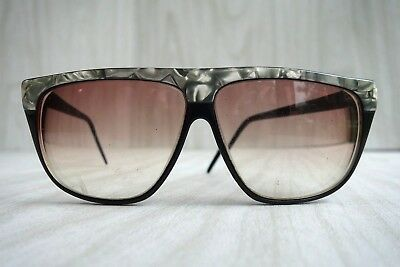Vintage 80s Laura Biagiotti Pearlescent Edgy Oversized Rx Sunglasses
