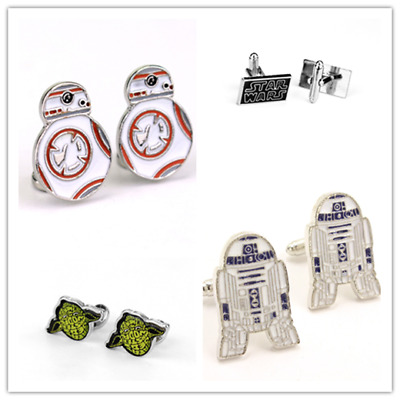 Star Wars Cufflinks BB-8 R2D2 Men Stainless Steel Cufflinks Party Wedding Gift