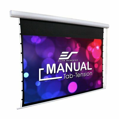 """New EliteScreens Manual Tab Tensioned 100"""" Home Theater Projection Screen White"""