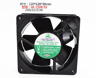 for Bi-Sonic 4E-230B 02 All-metal high-temperature fan 230VAC22/19W 120*120*38MM