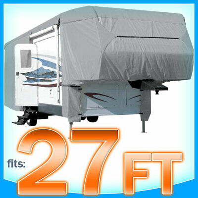 27' ft 5th Wheel RV Toy Hauler Trailer Cover Storage Covers Camper UV Protection