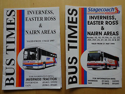 Stagecoach Inverness: Bus Timetable Inverness, Easter Ross & Nairn Areas 1997