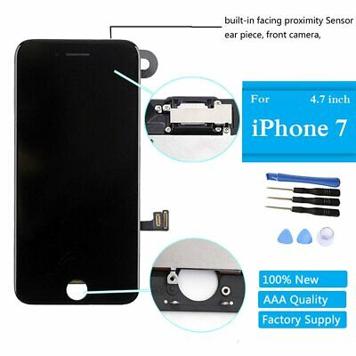 "Black LCD Replacement Screen 3D Touch Digitizer Asembly for iPhone 7 4.7"" Camera"