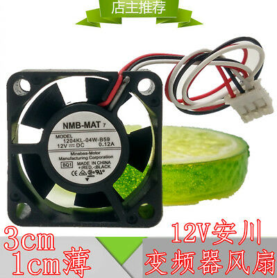 for NEW NMB 1204KL-04W-B59 30 x10mm Wired Router Cooler Cooling Fan 12V 3Pin