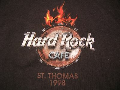 Hard Rock Cafe St. Thomas Global Tribe 1998 Electric V Guitar Drum Kit Size XL