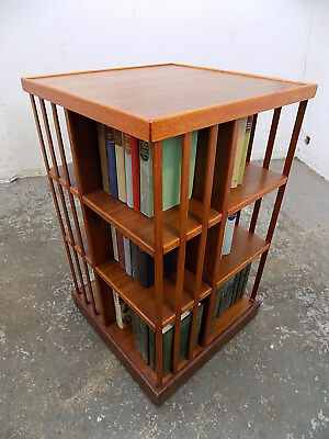 revolving bookcase,freestanding,bookcase,books,reproduction,large,beech,tall
