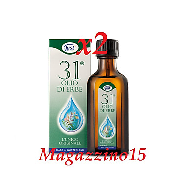 2 X JUST OLIO 31 ® L'UNICO ORIGINALE da 75ml !
