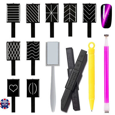 11 Design Cat Eye Gel Polish Magnet Sticks for Manicure UV Nail Art Nail Magnet
