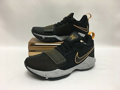 92eb1516704f Nike PG 1 Paul George Basketball Shoes Black Gold Yellow 878627-006 Men s  NEW