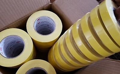 3M 06652 Crepe Paper Automotive Refinish Masking Tape 3/4 Inch 48-Pack Yellow
