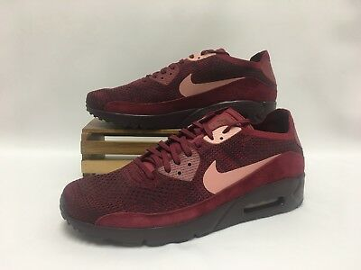 sports shoes 43645 6188c Nike Air Max 90 Ultra 2.0 Flyknit Shoes Red Burgundy Pink 875943-601 Men s  NEW