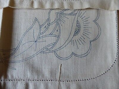11 Stamped 1930s Linen Pieces Cutwork Embroidery Patterns Fabric Antique Vintage