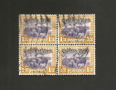 """H Value South Africa~""""Suid Africa"""" 2 X 1/3d  Stamps.FU,1931 definitives #SG 79"""