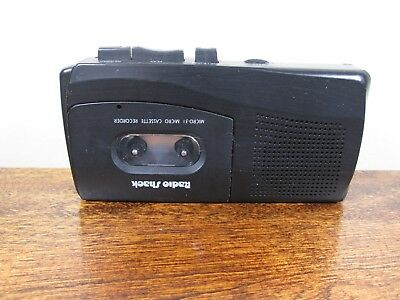 2 Speed Micro Cassette Recorder Radio Shack MIcro-31 Battery or AC Operated
