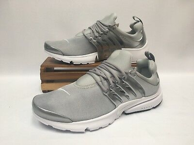 Nike Air Presto Premium Running Shoes Metallic Silver White 848141-001 Men s  NEW 2015ae8c1