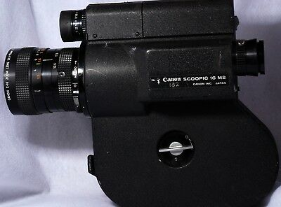 Canon Scoopic 16 MS 16mm Film Camera with 12.5-74mm Lens No.14482 For Parts