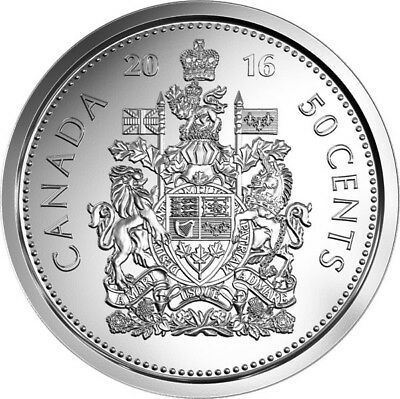 2016 50 cents Coat of Arms of CANADA UNC