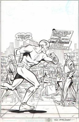 Tom Morgan Signed 1999 Silver Age Flash Tribute Cover Orig. Art! Free Shipping!