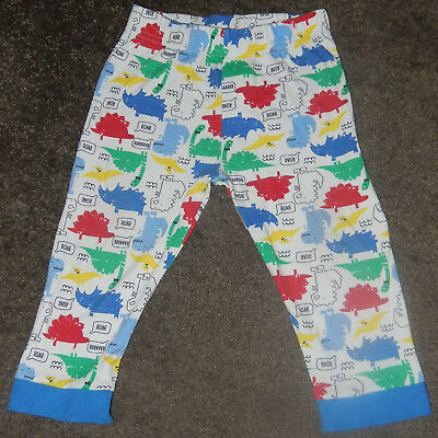 F&F Tesco Dinos Roar Raaarrr trousers bottom baby girls boys Unisex 12-18 Months