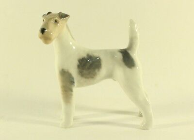 Royal Copenhagen Wire Haired Terrier Porcelain Figurine Denmark  Dog Marked