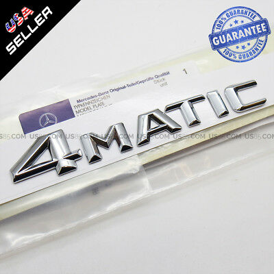 New Stlyle OEM ABS 4Matic Emblem Chrome Trunk Logo Badge Decoration AMG Modified