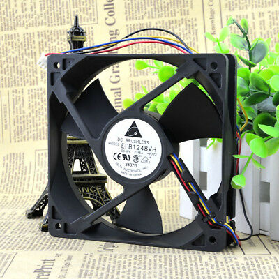 for DELTA EFB1248VH Switch cooling fan DC48V 0.15A 120*120*25mm 4pin/3pin