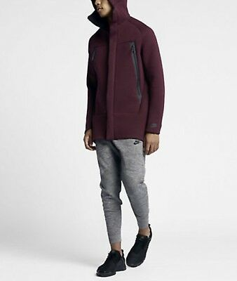 add1e0144d31 NIKE TECH FLEECE Parka Jacket 3Mm Thick Night Maroon S