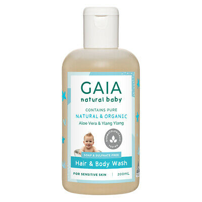 Gaia 200ml Pure/Organic Hair & Body Wash for Baby/Kids/Toddlers Vegan Friendly