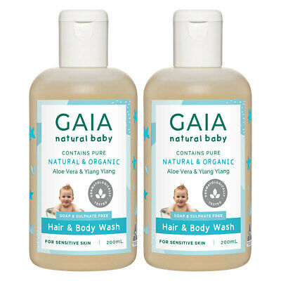 Gaia 400ml Pure/Organic Hair & Body Wash for Baby/Kids/Toddlers Vegan Friendly