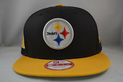 862303e63ca94 Pittsburgh Steelers 9Fifty Snapback Authentic New Era Hat Cap NFL in Yellow