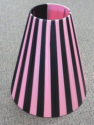 Pink And Black Plastic Ribbon Shade - Suitable For Barsony Black Lady Lamps