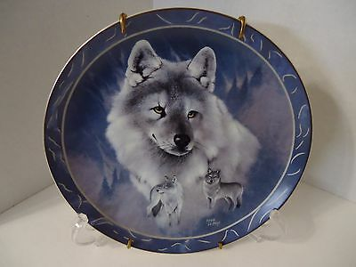 """Wolf """"Silver Scout""""  Braford Ex. Collectible Plate 1st Issue By Eddie LePage"""