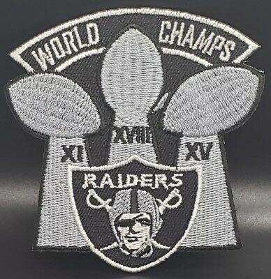 Oakland Raiders~World Champs~Embroidered Iron On Patch~Free Shipping from USA~