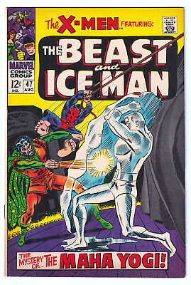 X-MEN 47 (1968) The Beast and Ice Man; High-Grade VF/NM 9.0