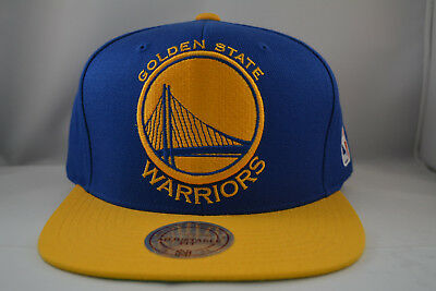 Golden State Warriors Snapback Authentic Mitchell   Ness Hat Cap NBA in Blue 4a0331995c6c