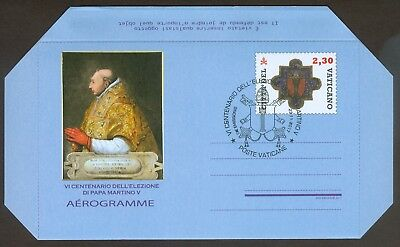 2017 Vatican City Aerogramme Election of Pope Martin V FDC