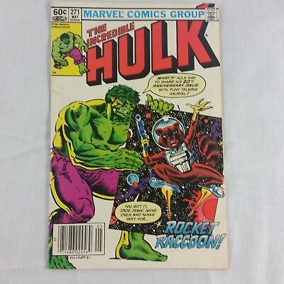 The Incredible Hulk #271 Rocket Racoon 1st Comic Appearance May 1982 Marvel