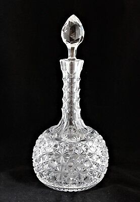 ANTIQUE AMERICAN BRILLIANT CUT GLASS CRYSTAL ABP Russian Mt Washington DECANTER
