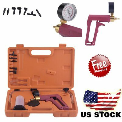 2 In 1 Brake Bleeder & Vacuum Pump Gauge Test Tuner Kit Tools DIY Hand Tools AL