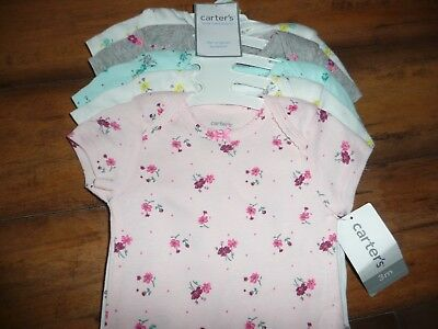 NEW NWT Carters girls size 3 months 5 pack beautiful bodysuits florals/colorful