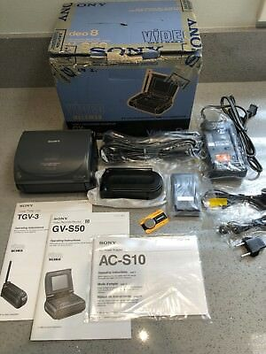 Sony Gv-S50 Video Walkman 8 Video Record Monitor With Accesories