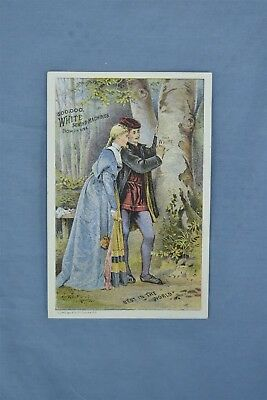 Advertising Victorian Trade Card The White Sewing Machine Richmond Me #05243