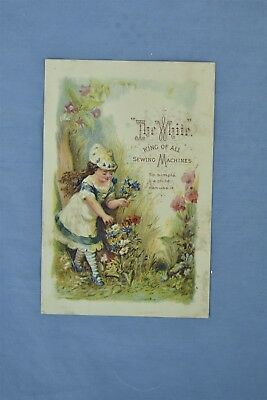 Advertising Victorian Trade Card The White Sewing Machine Searsport Me #05242