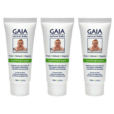 Gaia 300ml Organic Baby/Infant/Toddlers Soothing Cream/Lotion Vegan Friendly