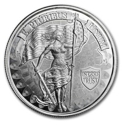 Liberty And Unity 1 oz .999 Silver American High Relief BU Round USA Made Coin