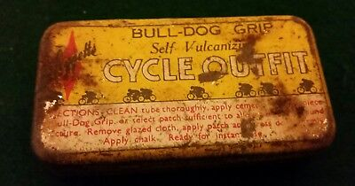 bull-dog self vulcanize cycle outfit tin