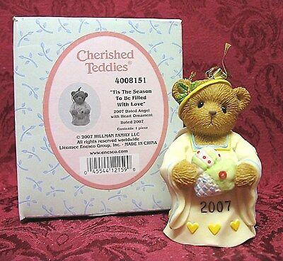 Cherished Teddies~2007 Dated Ornament Bell # 4008151