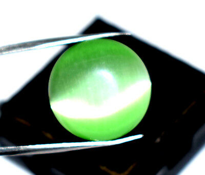 10.80  Cts Antique Gem Igl Certified Natural Green Apatite Cat's Eye Africa