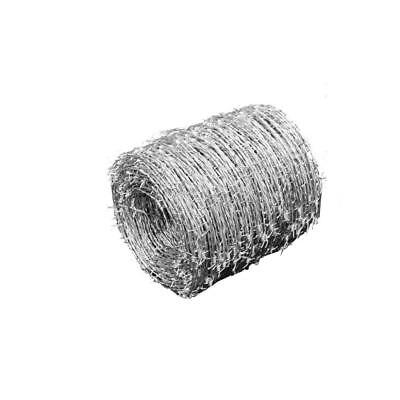 Garden Fence Barbed Wire Roll Coils 500 m 1.6mm Diameter Galvanised Steel Y0Q3