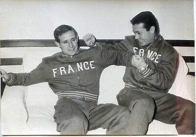 Photo Kopa et Fontaine - 1959 - Agence Dalmas - Football
